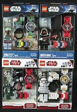 Lego Star Wars Watch With Detachable Minifigure Boba Fett Darth Maul Vader BNIP