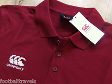 S M L XXL 3XL 4XL CANTERBURY NZ BIKING RED POLO SHIRT Rugby Football Cotton Poly