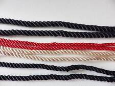 ♥ 5 metres x 6mm & 10mm Barley Twist Rope Cord Jewellery, Craft, Clothes, Sewing