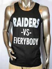 Oakland Raiders Mens Tank Top shirt Vs Everybody