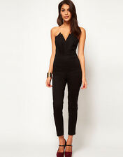 BNWT ASOS JUMPSUIT WITH PLEAT BUST ORIGAMI DETAIL IN BLACK VARIOUS SIZES