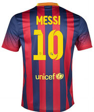 NIKE FC BARCELONA LIONEL MESSI HOME JERSEY 2013/14 FOOTBALL LA LIGA SPAIN.