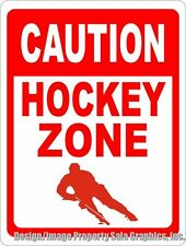 Caution Hockey Zone Sign. Size Options. Gift for Players & Fans. Ice Rink Decor