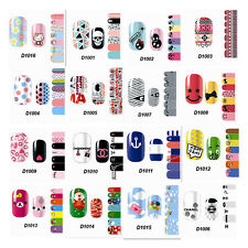 Hot Full Self Nail Wraps Stickers Adhesive Polish Foils Decoration Art Decals