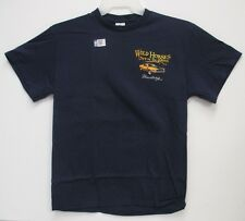 """Ford Mustang """"Wild Horses out in the Barn"""" T-shirt Blue Tee 2014 Nascar"""
