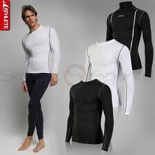 ATHLETE Mens Winter HOT GEAR Thermal Compression Baselayer Long Sleeve Top Skins