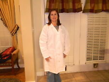 "Women's 1st Quality White Medline Cotton Blend Lab Coats Length 37"" for 12.00ea"