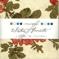 3 Sisters Favorites Charm Pack by Moda, 42 5-inch Precut Fabric Squares 906PP