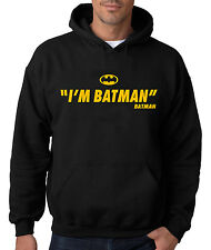 I'M BATMAN HOODIE Hooded Sweatshirt Joker Robin Dark Knight Rises Bane Symbol DC