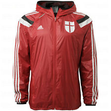adidas AC Milan 2014 - 2015 LU Soccer Woven Hooded Presentation Jacket Red