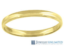 Solid 10K Yellow Gold Mens Ladies Wedding Engagement Ring Band 3mm Size 5-13