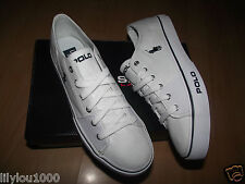 POLO RALPH LAUREN WHITE CROFTON TRAINERS SIZE 6,7,8,9,10,11 NEW IN BOX