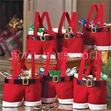 2 Sizes Christmas Santa Pants Shorts Candy Wine Bags Xmas Gift Table Decoration