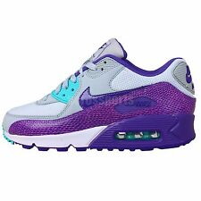 Nike Wmns Air Max 90 Grey Purple Snakeskin 2014 Womens NSW Casual Running Shoes