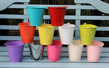 11CM METAL TIN FLOWER BUCKET POT PLANTER WEDDING FAVOURS SWEET TREE