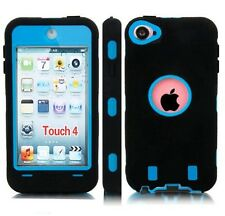 OEM RANGER DEFENDER BELT CLIP CASE FOR iPOD TOUCH 4TH GENERATION BLACK / BLUE