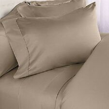 NEW 1200TC TAUPE SOLID EXTRA DEEP SHEET SET/FITTED SHEET 100%COTTON ALL SIZE