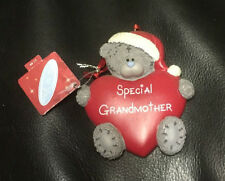 ME TO YOU BEAR TATTY TEDDY CHRISTMAS XMAS HEART TREE DECORATION NAME FAMILY GIFT