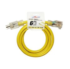 12/3 125V SJT LIGHTED Extension Cord 15 AMP THICK Size 6 10 25 50 75 100 ft foot
