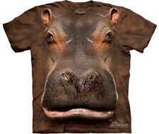 THE MOUNTAIN: Kinder T-Shirt - Hippo Head, Flusspferd, Gr. S, M, L, XL
