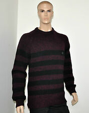 NWT $495 Burberry Brit Men's Wool Cashmere Striped Knight Logo Knit Sweater