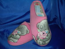 Ladies Girls TATTY TED Me To You Bear Mules Slippers Pink Rose sizes 3-8 availab