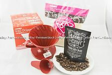 HARIO02 Red Dripper Brown filter Coffee Bean Guatemala Blends Christmas Gift Set
