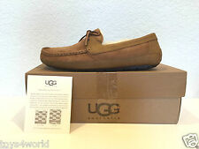 UGG Australia Byron Men's Leather Moccasins Slippers - Chestnut - Sizes 8 - 18