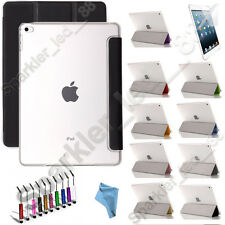 For Apple iPad Air/ iPad Mini Tr-Fold Case with Clear Back Sleep/Wake Function
