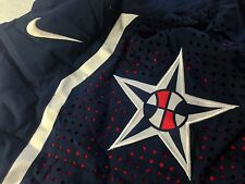 NIKE AUTHENTIC USA MENS NATIONAL TEAM BASKETBALL GAME SHORTS FIBA NAVY L XL
