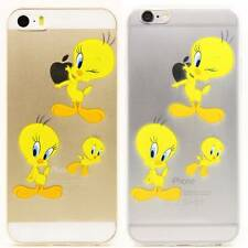 PD Looney Tunes Tweety Bird Rubber Plastic Back Case For iPhone 5S / 6 / 6 Plus