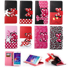 New Fashion Bowknot Leather Wallet Card Stand Flip Cover Case for Samsung Galaxy