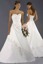 white/ivory wedding dress evening dress wholesale prom ball gown stock size:6-16