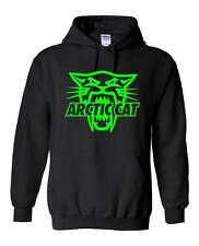 ARCTIC CAT HOODIE SWEATSHIRT SIZES TO 5X ATV XF ZR M Sno Pro Firecat Black/Green
