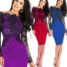 Sexy Women Lace Up  Long Sleeve Maxi Clubbing Party Evening Cocktail Dresses
