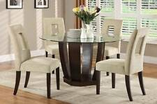 West Palm Espresso Finish Contemporary Dining Table + 4 Chairs Dining Room