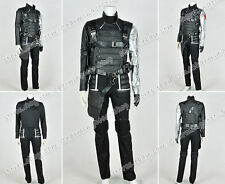 Captain America II 2 Cosplay The Winter Soldier Bucky Barnes Costume Whole Set