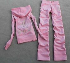 Juicy Couture Velour Pink Set Tracksuit Womens