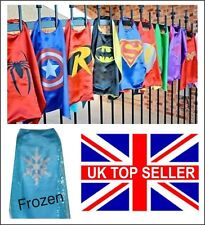 Kids children's superhero Cape Costume Frozen Batman Spiderman Super Marvel gift