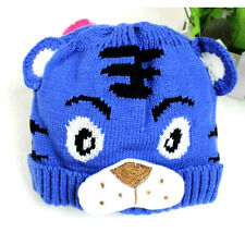 Hot sale Tiger Pattern Newborn Baby  Animal Beanie Knitting Crochet Hat Warm Cap