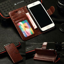 Luxury Leather Flip Case Wallet Cover For iPhone 6 / 6 Plus iPhone 5S 5 4S 4