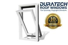 Velux/Duratech Centre Pivot Roof Window 780x1400mm White uPVC with Flashing