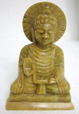 "Handcrafted 5"" inch Buddha statue Figurine Hand Carved SoapStone"