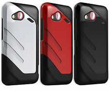 Qmadix Vibe Protective Rubberized Gel Hard  Cover Case For HTC 6410 Incredible