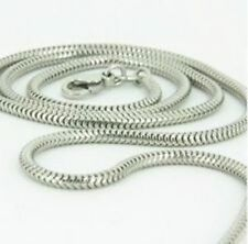 "Sterling Silver Snake Chain Necklace 16"" 18"" 20"" 22"" 24"" 26"" 28"" 30"" [BC]"