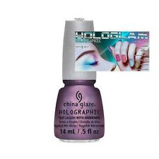 CHINA GLAZE 12 Holographic Nail Lacquers with Hardeners (CHOOSE COLOR)