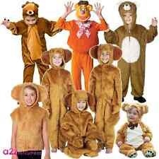 KIDS BEAR HONEY BROWN WILD ANIMAL ZOO STORY BOOK CHARACTER FANCY DRESS COSTUME
