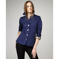 BURBERRY BRIT Women's Copford Jacket Quilted Quilt Sapphire Navy XS S Small Xtra