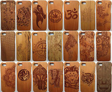 """LUXURY CARVED HARD WOODEN PROTECTOR CASE SOLID WOOD COVER APPLE IPHONE 6 4.7"""""""