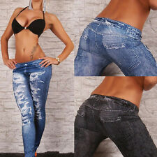 Sexy Women Skinny Jeggings Stretchy Pants Soft Denim Jean Pencil Tights